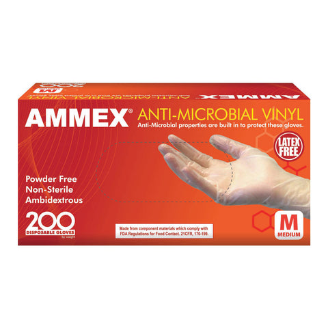Anti-Microbial Vinyl Gloves