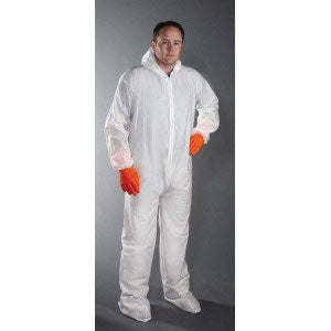 Polypropylene Coverall/Bunny suit (30 gram)