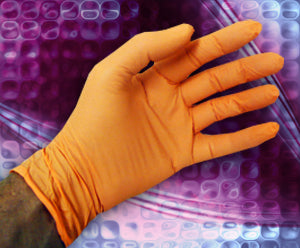 CORRECT TOUCH® Orange Nitrile Exam Gloves