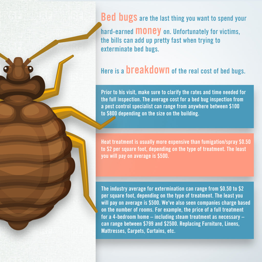 bed bug extermination and treatment costs
