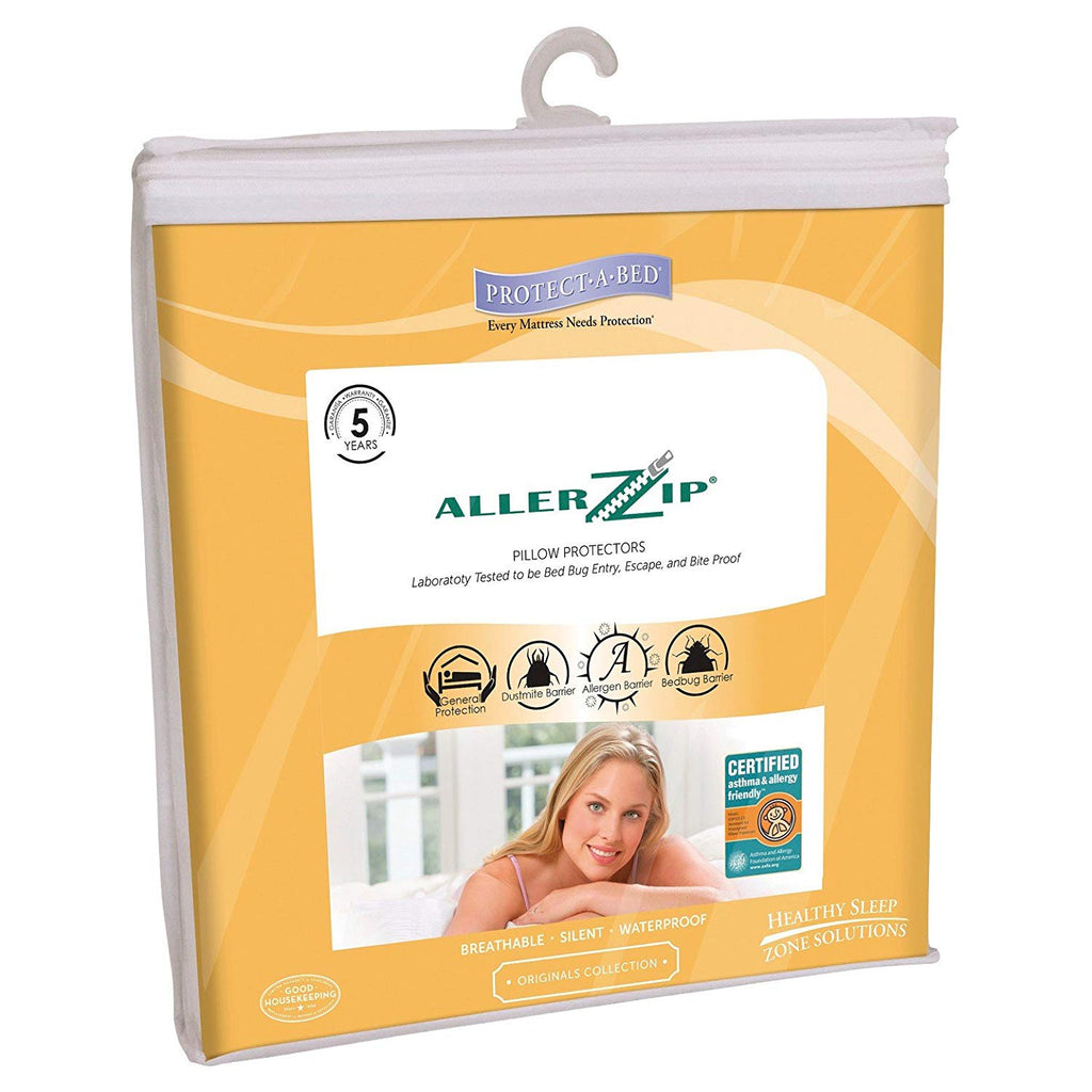 Bed Bug Pillow Covers - AllerZip Smooth - Bed Bug SOS