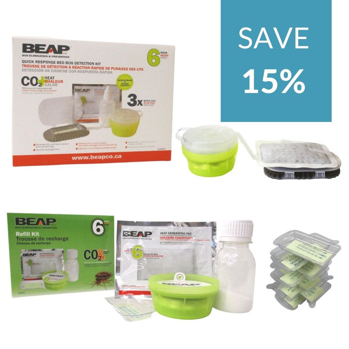 Beapco CO2 Trap and CO2 Refills Bundle