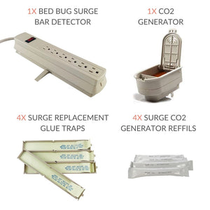Bed Bug Surge Protector, CO2 Generator, Lures and Refills Bundle