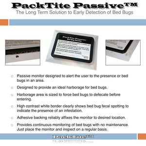 PackTite Passive Bed Bug Monitor - Bed Bug SOS