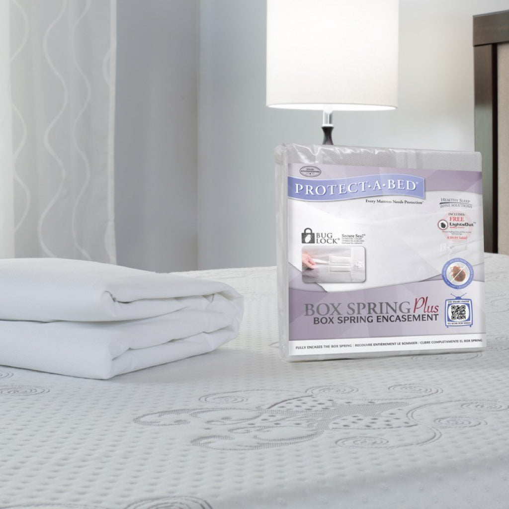 Box Spring Plus: Extra-Durable Bed Bug Proof Box Spring Cover 6-Sided Encasement + BONUS Bed Bug Armour - Bed Bug SOS
