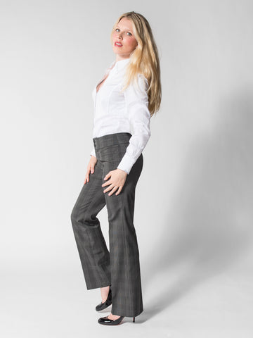 Tina - Business Casual Pant (Plaid)