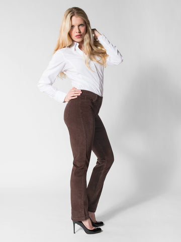 Lindsay - 5 Pocket Corduroy Jean (Brown)