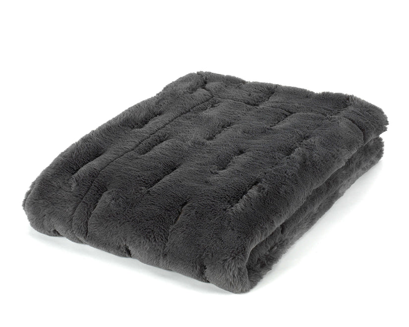 Mora Vinson Interior Luxury Soft Fox Faux Fur Throw Blanket