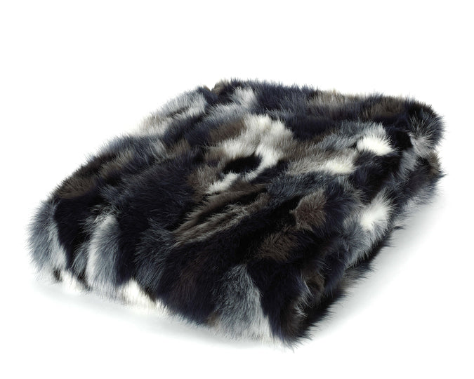 Mora Dinka Interior Luxury Soft Fox Faux Fur Throw Blanket