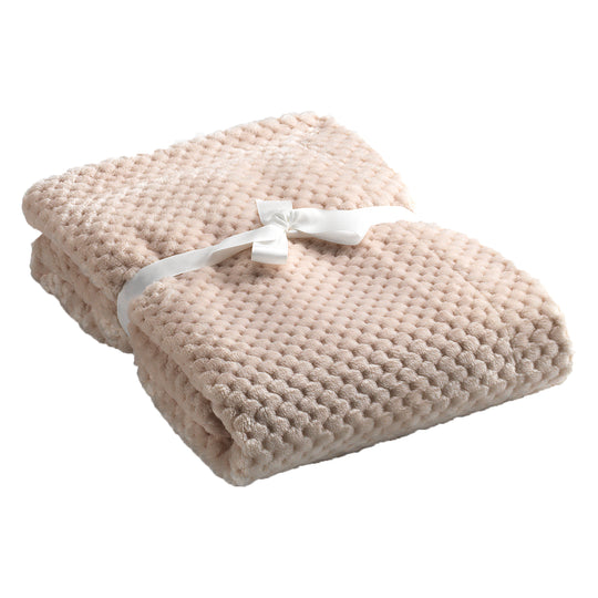 Mora Cocole (Beige) Personalised Microfibre Soft Baby Blanket
