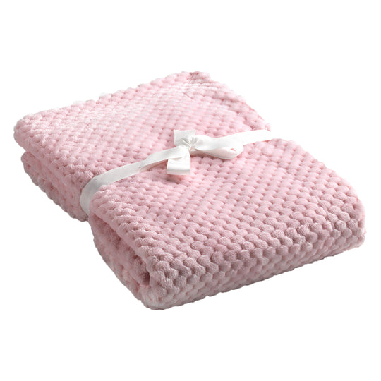 Mora Cocole (Pink) Personalised Microfibre Soft Baby Blanket