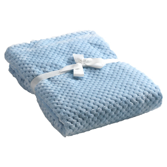 Mora Cocole (Blue) Personalised Microfibre Soft Baby Blanket