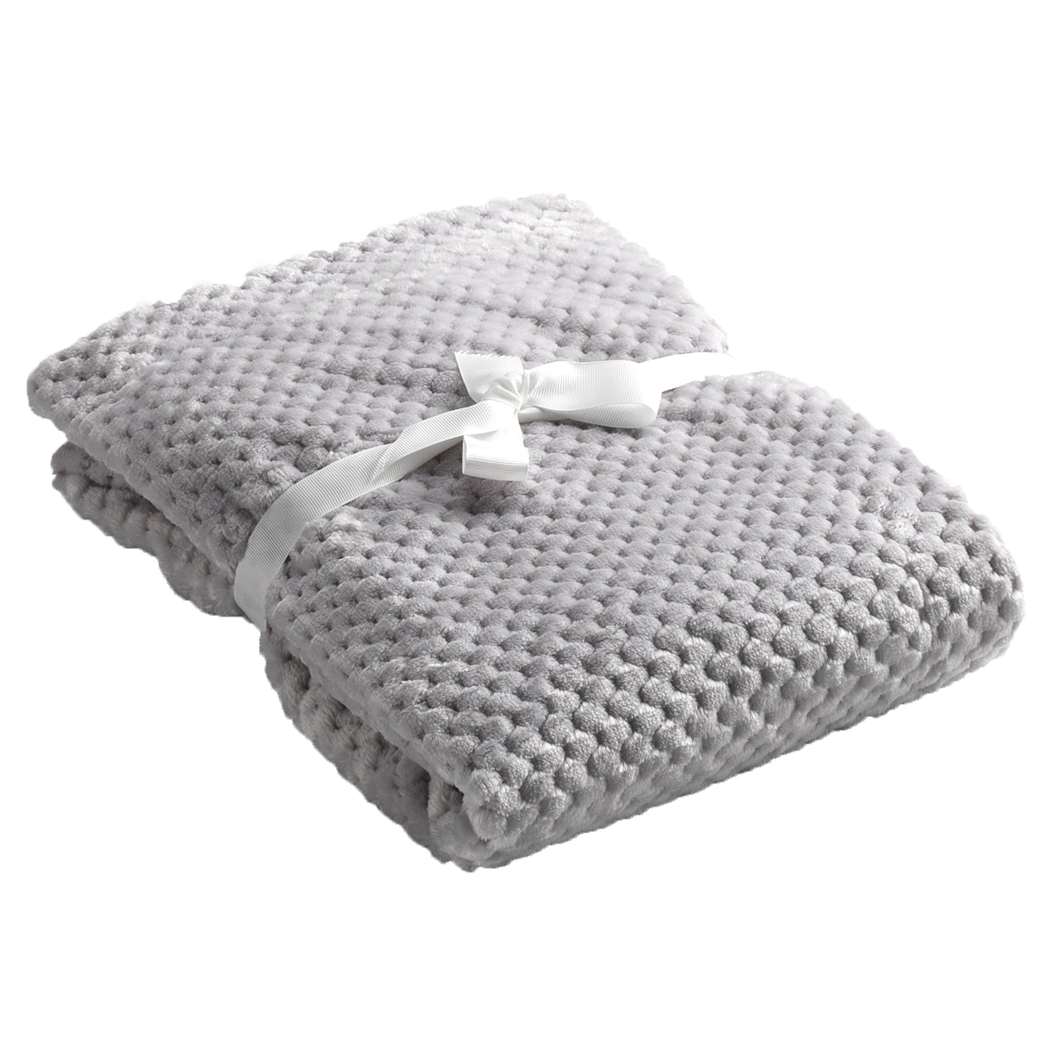 Mora Cocole (Grey) Personalised Microfibre Soft Baby Blanket