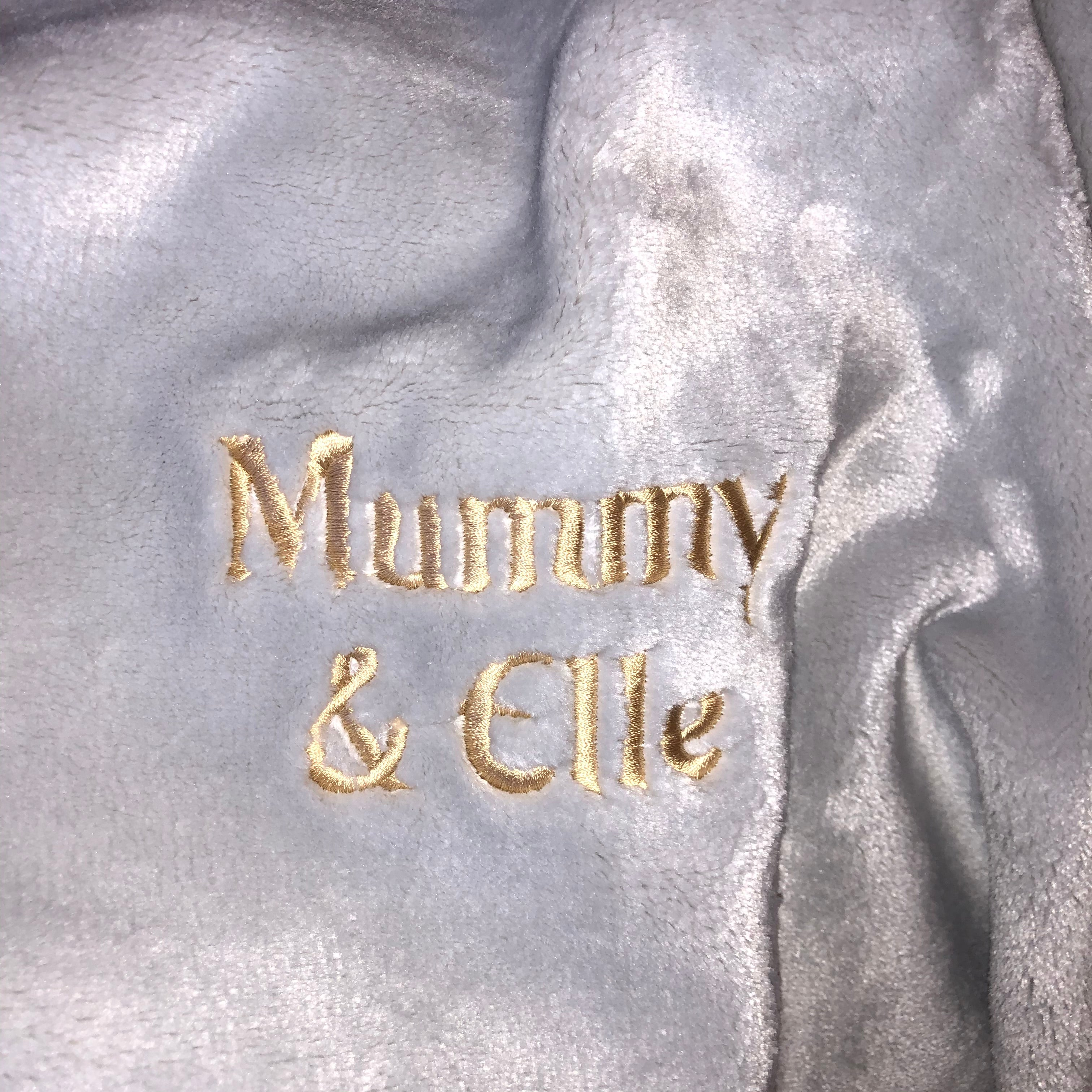 Mora Sofing (Grey) Personalised Microfibre Soft Sofa Blanket