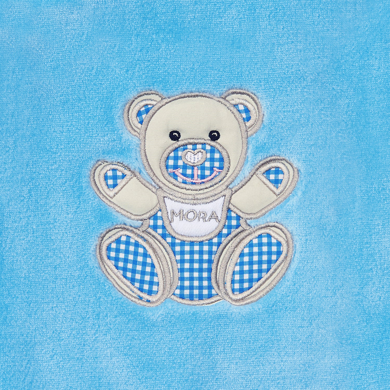Mora Dolcce Personalised Microfibre Soft Baby Blanket In Blue Mora Uk