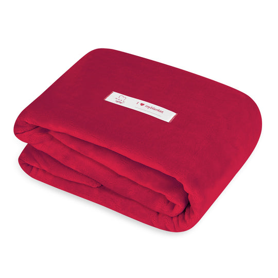 Mora Sofing (Magenta Red) Personalised Microfibre Soft Sofa Blanket