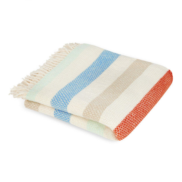 Mora Interior Eco Throw, Striped, Blanket, Chunky Knit Blanket