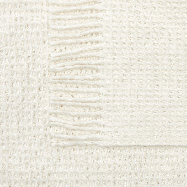 Mora Interior Eco (Natural Blanket) Throw, Chunky Knit Cotton, Cream