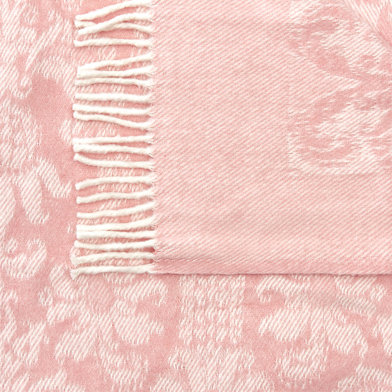 Mora Interior Eco (Pink Blanket) Throw, Chunky Knit Cotton, Knitted