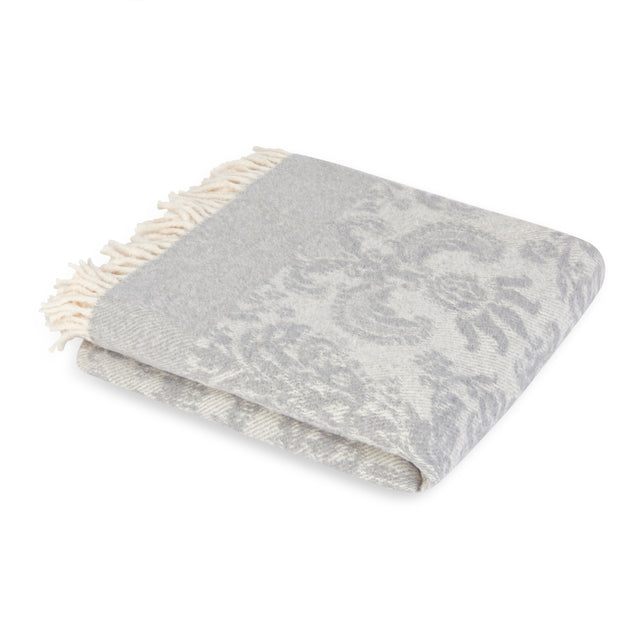 Mora Interior Eco (Grey/Silver Blanket) Throw, Chunky Knit Cotton