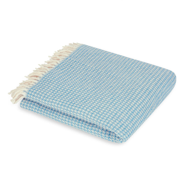 Mora Interior Eco (Turquoise Blanket) Throw, Chunky Knit, Cotton, Blue