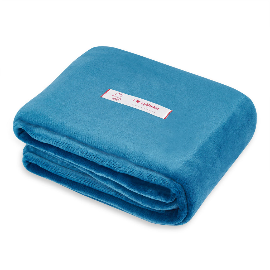 Mora Sofing (Blue Blanket) Throw, Chunky Knit, Cotton, Blankets, Cosy