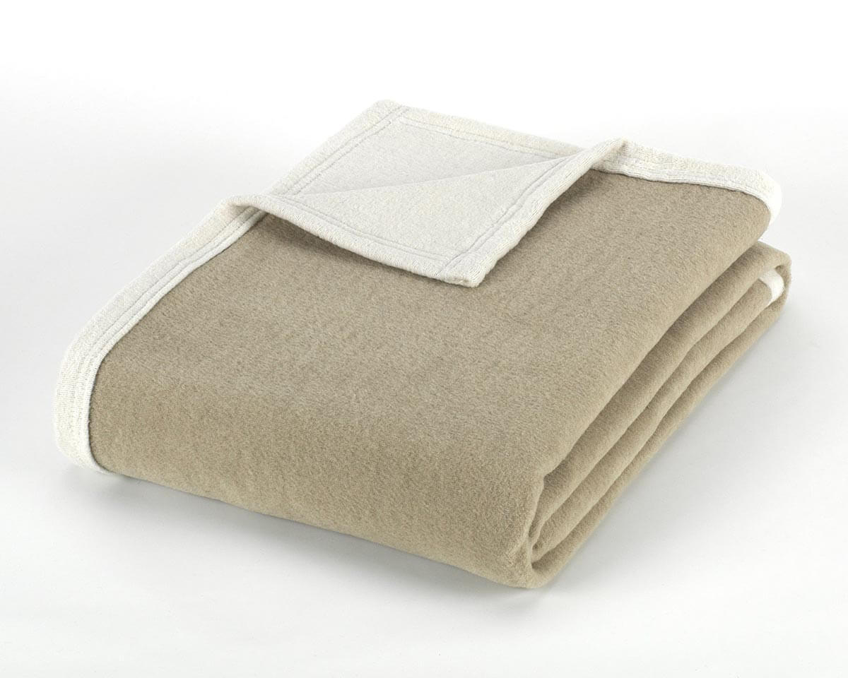 Mora Recycled Cotton (Beige) Soft Cotton Sofa Throw Blanket