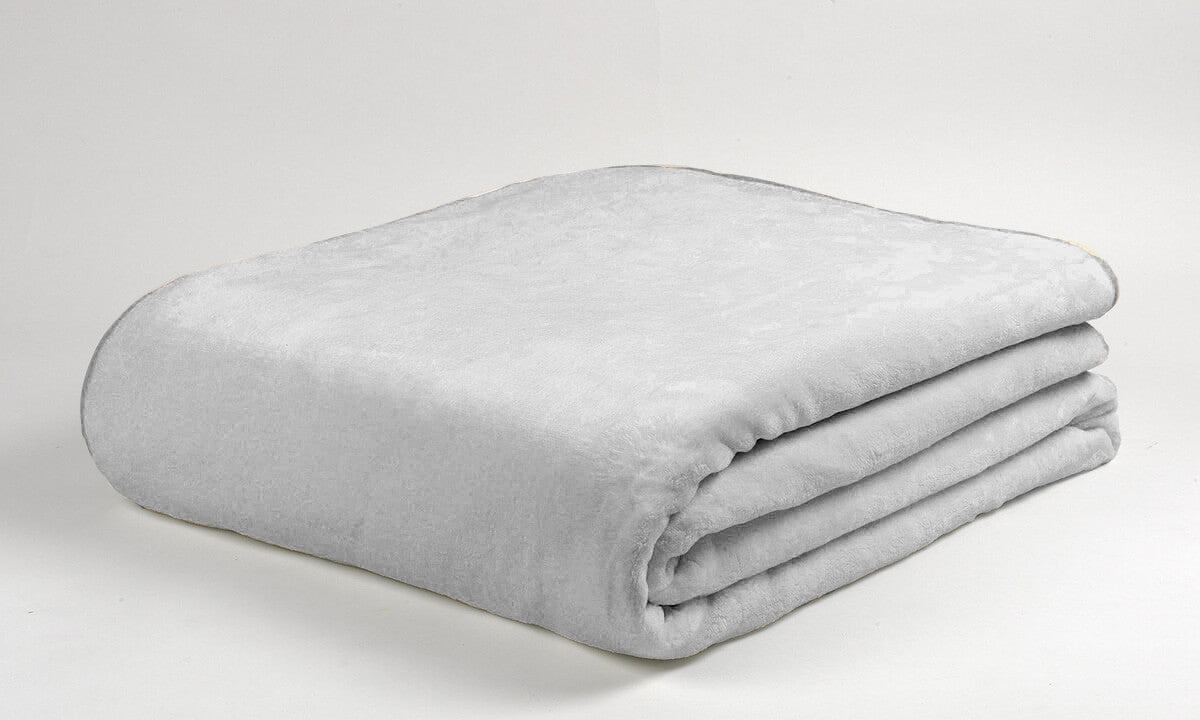 Mora Colour Bed (Grey) Microfibre Soft Bed Blanket Throw King/Super King