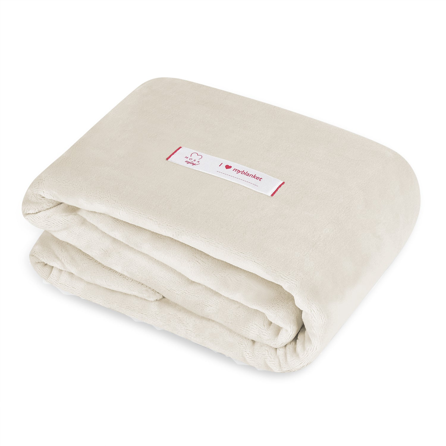 Mora Sofing (Natural) Personalised Microfibre Soft Sofa Blanket