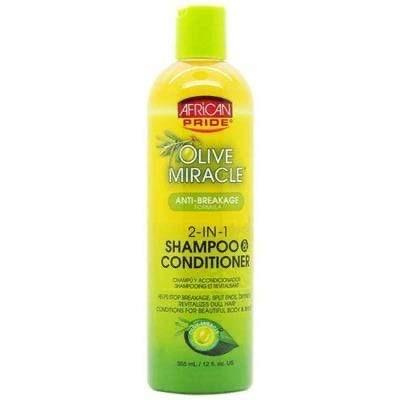 African Pride - Olive Miracle 2 in 1 shampoo and conditioner - 355ml - African Pride - Ethni Beauty Market