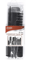 "Annie - ""Professional Combo Set"" 10-piece comb set - Annie - Ethni Beauty Market"