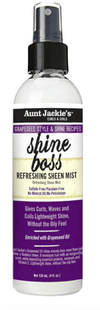 Aunt Jackie's - Shining and refreshing mist (Grapeseed style & shine recipesshine boss refreshing sheen mist) - 120ml - Aunt Jackie's - Ethni Beauty Market