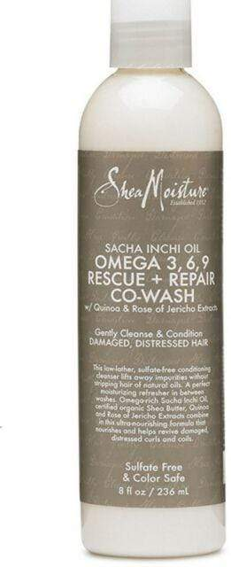 Shea Moisture Co-wash 236ml Shea Moisture - Sacha Inchi Oil Co-Wash & Omega Rich 3-6-9 - Two sizes available