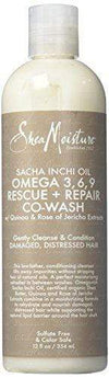 Shea Moisture Co-wash 354ml Shea Moisture - Sacha Inchi Oil Co-Wash & Omega Rich 3-6-9 - Two sizes available