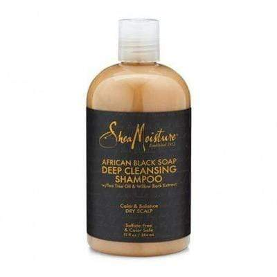 Shea Moisture - Deep Cleansing Shampoo With African Black Soap 384ml and 118ml - Shea Moisture - Ethni Beauty Market
