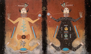 Mother Earth/Father Sky Navajo Sandpainting. Joe Ben Jr.