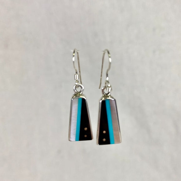 Jimmy Poyer Inlaid Dangle Earring