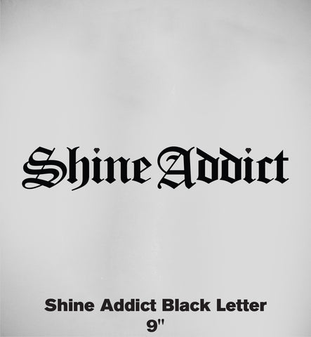 """Black Letter Shine"" Sticker"
