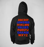 """The Alphabet""  Heavyweight Zip Hoodie"