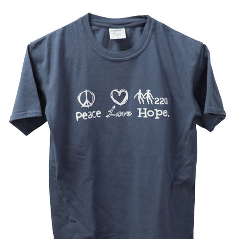 22q Peace, Love, Hope Men's Denim Blue