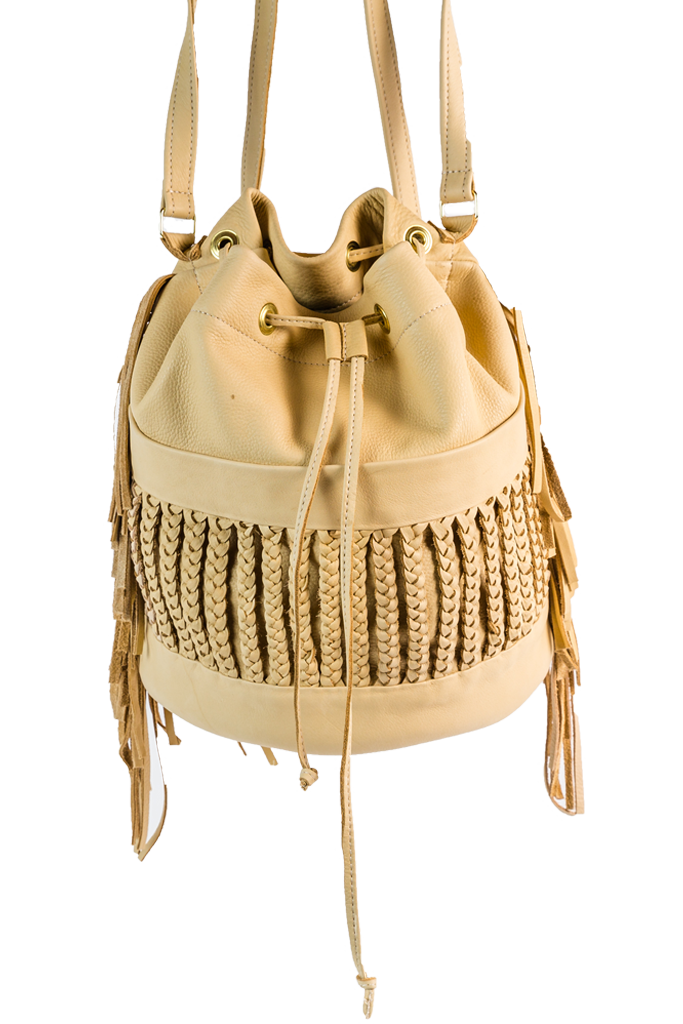 Backpack Dutch Braid with Fringe - Desert Fawn