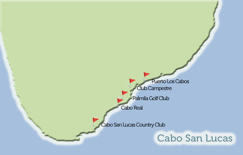 Cabo San Lucas Golf Courses Map View