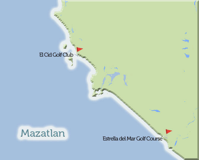Mazatlan Golf Courses Map View
