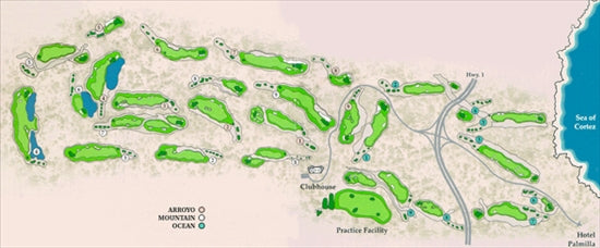 Los Cabos Luxury Golf Packages, Mexico Luxury Golf Vacations  |Cabo San Lucas Golf Courses Map