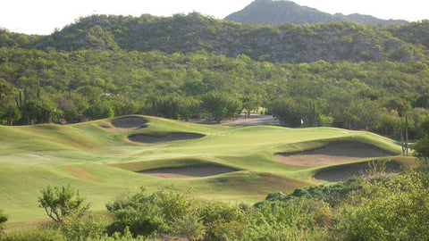 Cabo Real Golf Club bunkered green
