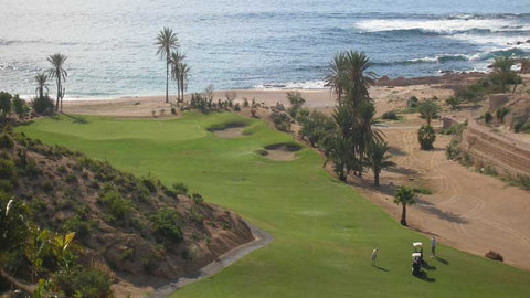 Drone shot of #5 at Cabo Del Sol Ocean Course