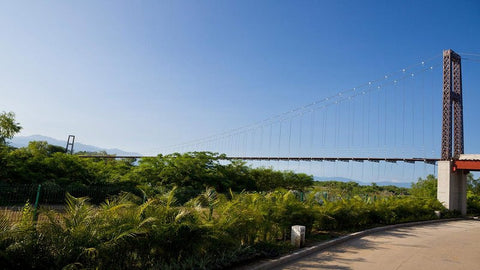 World's longest golf cart suspension bridge, Ameca River
