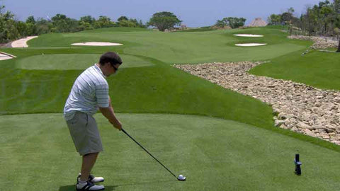 Teeing off at Iberostar Playa Paraiso