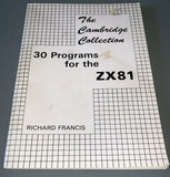 The Cambridge Collection - 30 Programs For The ZX81