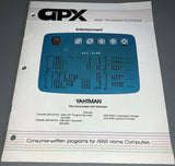 APX - Atari Program Exchange - Yahtman Manual
